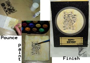 MFP #74 Sculpting with Stamps, TT or PT 1c