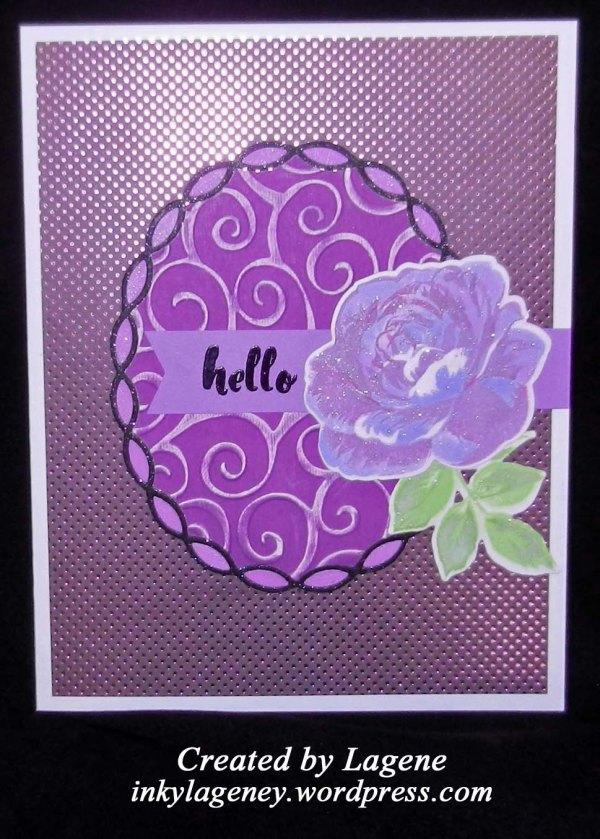 (2018 c54) Purple Rose, Jewel Tones